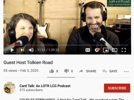 Tolkien Road Podcast Card talk Podcast Lord of the Rings the Card Game